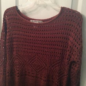 NWOT American Rag rust color knitted sweater